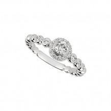 Jewelmi Custom 14k White Gold Halo Diamond Engagement Ring