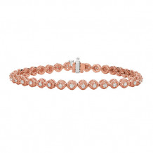 Jewelmi Custom 14k Rose Gold Diamond Bracelet