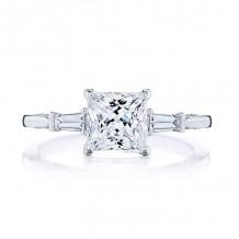 Tacori 18k White Gold Simply Tacori 3 Stone Diamond Engagement Ring - 2669PR65W