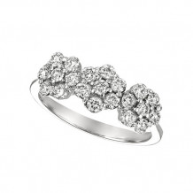 Jewelmi Custom 14k White Gold Diamond Flower Ring