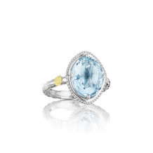 Tacori Sterling Silver Gemma Bloom Gemstone Men's Ring - SR13502