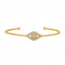 Jewelmi Custom 14k Yellow Gold Diamond Bangle Bracelet