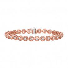 Jewelmi Custom 14k Rose Gold Diamond Bracelet
