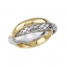 Alisa 18k Two Tone Gold and Sterling Silver Entwined Ring