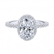 Gabriel & Co 18k White Gold Diamond Engagement Ring