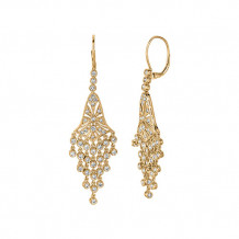 Jewelmi Custom 14k Yellow Gold Diamond Chandelier Earrings
