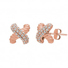Jewelmi Custom 14k Rose Gold Diamond Earrings