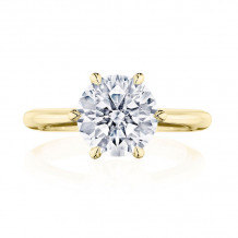 Tacori 18k Yellow Gold RoyalT Solitaire Diamond Engagement Ring - HT2674RD9Y