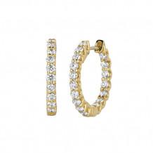 Jewelmi Custom 14k Yellow Gold Diamond Hoop Earrings
