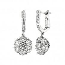 Jewelmi Custom 14k White Gold Diamond Drop Earrings