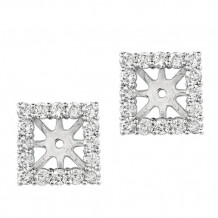 Jewelmi Custom 14k White Gold Diamond Earrings