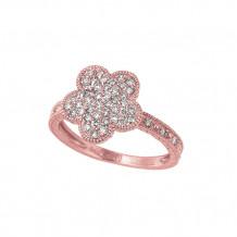 Jewelmi Custom 14k Rose Gold Diamond Flower Ring