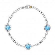 Tacori Sterling Silver Crescent Crown Gemstone Women's Bracelet - SB22145