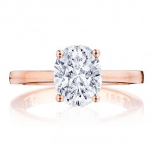 Tacori 14k Rose Gold Coastal Crescent Diamond Solitaire Engagement Ring - p1002ov9x7fpk