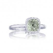 Tacori Sterling Silver Crescent Embrace Gemstone Men's Ring - SR23512