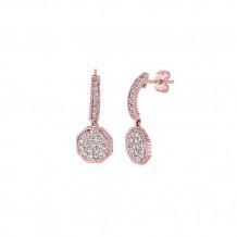 Jewelmi Custom 14k Rose Gold Diamond Earrings