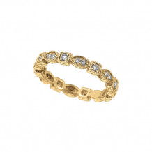Jewelmi Custom 14k Yellow Gold Diamond Stackable Ring