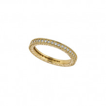 Jewelmi Custom 14k Yellow Gold Carved Diamond Wedding Band