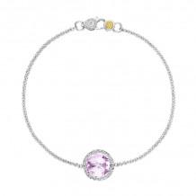 Tacori Sterling Silver Crescent Embrace Gemstone Women's Bracelet - SB16613