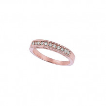 Jewelmi Custom 14k Rose Gold Diamond Stackable Ring