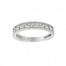 Jewelmi Custom 14k White Gold Diamond Stackables Ring