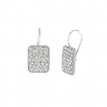 Jewelmi Custom 14k White Gold Diamond Earrings