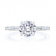 Tacori Platinum Simply Tacori 3 Stone Diamond Engagement Ring - 2669RD75