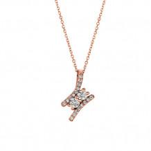 Jewelmi Custom 14k Rose Gold Diamond Necklace