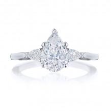 Tacori 18k White Gold Simply Tacori 3 Stone Diamond Engagement Ring - 2668PS9X6W