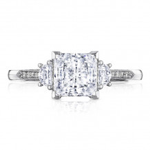Tacori Platinum Simply Tacori 3 Stone Diamond Engagement Ring - 2659PR65