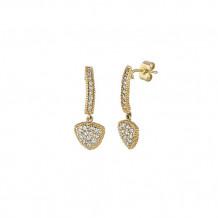 Jewelmi Custom 14k Yellow Gold Diamond Earrings