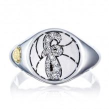 Tacori Sterling Silver Love Letters Diamond Men's Ring - SR194FSB