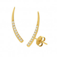 Jewelmi Custom 14k Yellow Gold Diamond Earrings