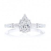 Tacori Platinum Simply Tacori 3 Stone Diamond Engagement Ring - 2669PS85X55