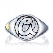 Tacori Sterling Silver Love Letters Men's Ring - SR195ASB