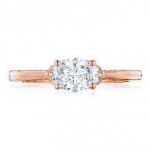 Tacori 18k Rose Gold Simply Tacori Solitaire Diamond Engagement Ring - 2654OV7X5PK