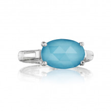 Tacori Sterling Silver Gemma Bloom Gemstone Men's Ring - SR13905
