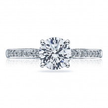 Tacori 18k White Gold Dantela Solitaire Diamond Engagement Ring - 2638RDP65W