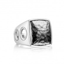 Tacori Sterling Silver Monterey Roadster Men's Ring - MR10540