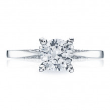 Tacori 18k White Gold Simply Tacori Diamond Solitaire Engagement Ring - 2584RD65W