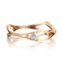 Tacori 18k Rose Gold The Ivy Lane Men's Ring - SR206P