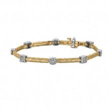 Jewelmi Custom 14k Two Tone Gold Diamond Bracelet