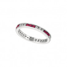 Jewelmi Custom 14k White Gold Ruby Diamond Ring