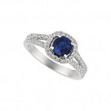 Jewelmi Custom 14k White Gold Sapphire Diamond Engagement Ring