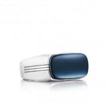 Tacori Sterling Silver Legend Gemstone Men's Ring - MR10237