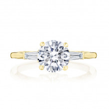 Tacori 18k Yellow Gold Simply Tacori 3 Stone Diamond Engagement Ring - 2669RD75Y