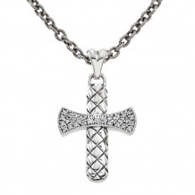 Alisa Sterling silver Basketweave Cross Pendant