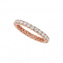Jewelmi Custom 14k Rose Gold Diamond Eternity Wedding Band