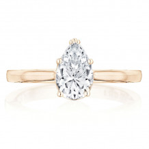 Tacori 14k Rose Gold Coastal Crescent Solitaire Diamond Engagement Ring - P100PS85X55FPK