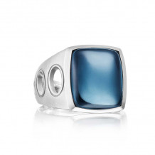 Tacori Sterling Silver Monterey Roadster Gemstone Men's Ring - MR10537